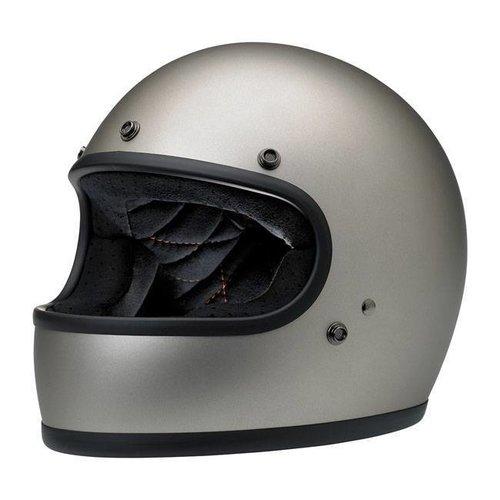 Biltwell Gringo helm Flat Titanium ECE goedgekeurd