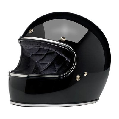 Biltwell Gringo Helmet Gloss Black ECE Approved