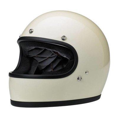 Biltwell Gringo Helme Gloss Vintage White Black ECE Approved