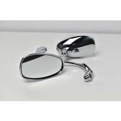 Verstelbare Bar end Mirror ABS Chrome