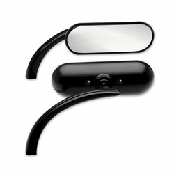 Mini Oval Mirror Black