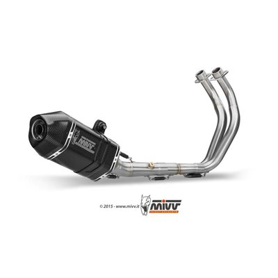 MIVV Speed Edge Stainless Exhaust System Black/Carbon Yamaha MT-07