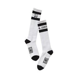 Mooneyes Hoge Sokken Zwart / Wit