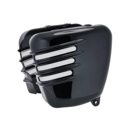 Ribbed Side Panels - Gloss Black - SET