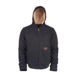 Schwarzer Farnham Canvas Jacket Zip-Up
