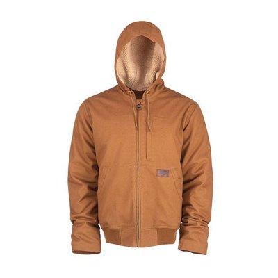 Dickies Brown Farnham canvas jacket zip-up