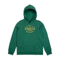 Fleece hoodie heather green