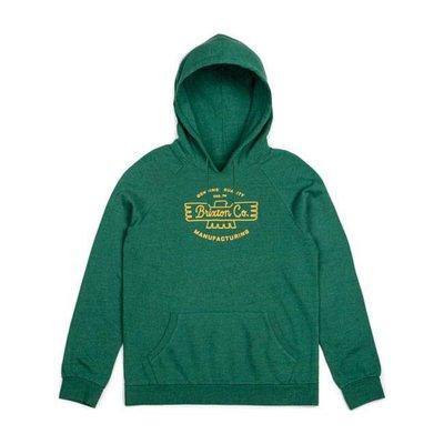 BRIXTON Fleece hoodie heather green