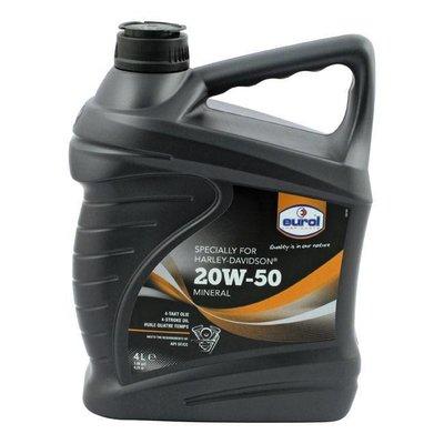 Eurol Motoroil 20W50 SG/CD 4 Liter