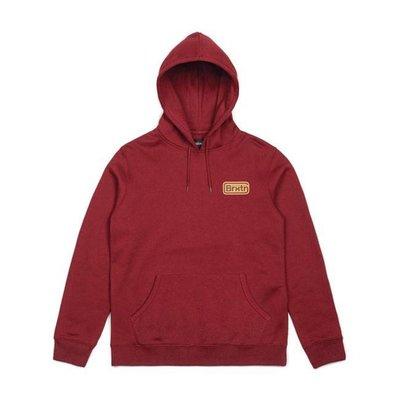 BRIXTON Springfield Fleece hoodie red