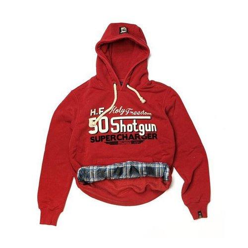 Holy Freedom Hoodie shotgun Rot