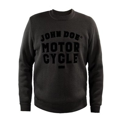 John Doe knitted round neck sweater GREY with xtm kevlar