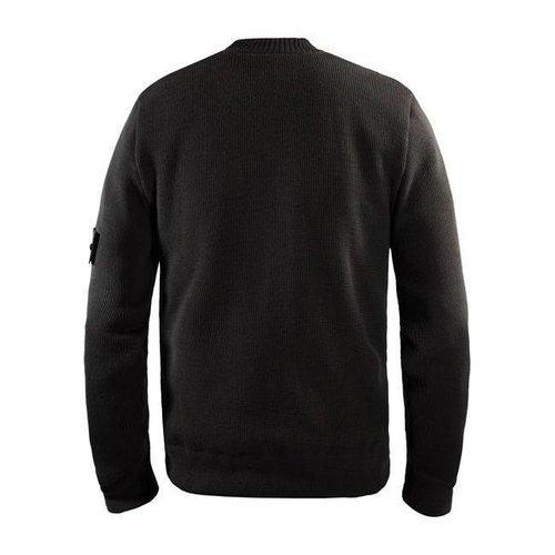 John Doe gebreide pullover roundneck GRIJS met xtm kevlar en klein logo