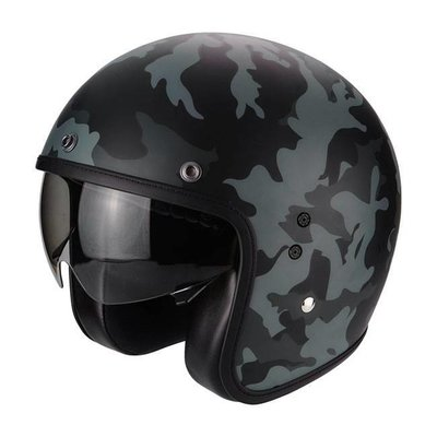 scorpion Belfast jet helmet mission mat black and gray