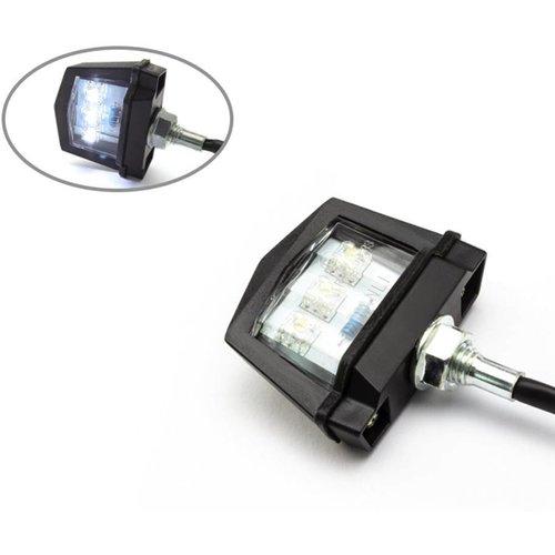 Black Universal Bolt auf LED Kennzeichenbeleuchtung - Emarked