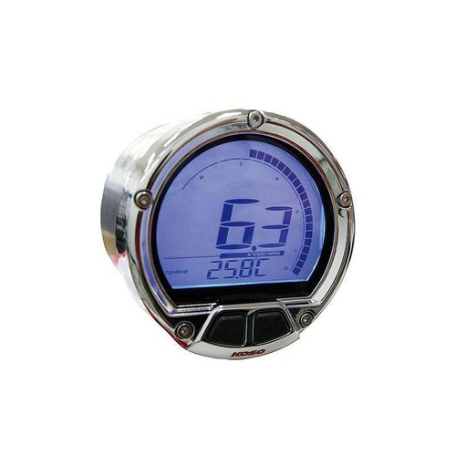KOSO D55 DL-02R toerenteller / thermometer (LCD-scherm, max. 250°C, max. 20000 rpm)
