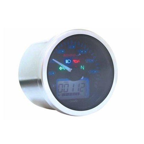 KOSO D64 Eclipse Style Tachometer (max 160 km/h / MPH) mit ABE