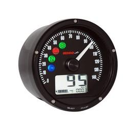 D75 Tachometer Schwarzem Ziffernblatt/Oberflaeche/Blende 0-140 km/h od