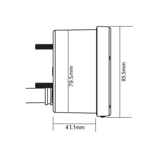 KOSO Snelheidsmeter D75 zwarte wijzerplaat / oppervlak / diafragma 0-140 km / h od
