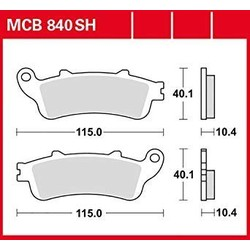 Brake pads MCB840 Sintered Rear