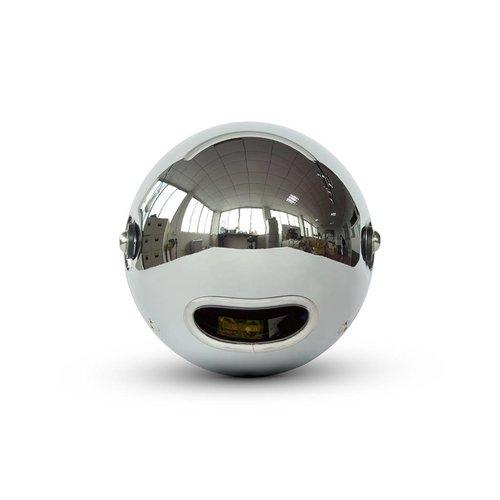 "7.7 ""Klassieke Chrome Mesh-koplamp - gele lens"