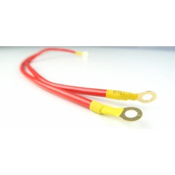 Cable + (red) 40CM - 2.5mm², 15A