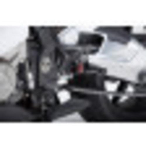 LSL 2-glijdertandet BMW S 1000 RR 15 -, zwart, bevestigingsstuk rood