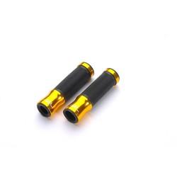 Handlebar grips aluminium-rubber, 125mm, gold