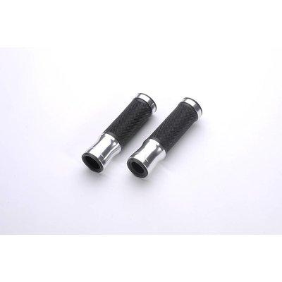 LSL Stuurgrepen aluminium-rubber, 125 mm, zilver