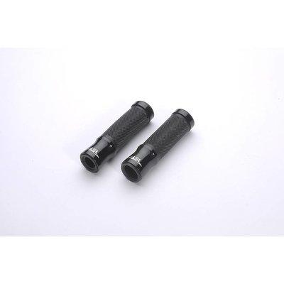 LSL Stuurgrepen aluminium-rubber, 125 mm, zwart