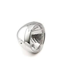 Clubman headlight 6.5 inches, clear, chrome