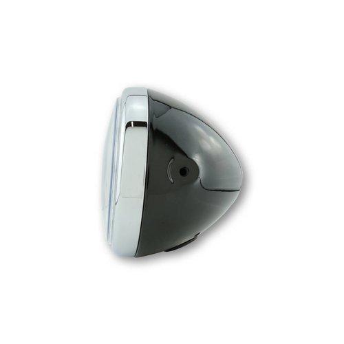 Shin Yo 7 Inch Koplamp Reno Zwart met chromen ring