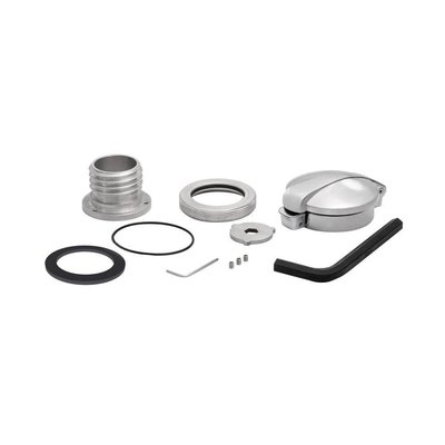 Motone Monza Cap Kit for Triumph and HD - Brushed Finish