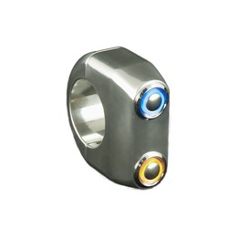 REBEL SWITCH 2 knops LED - Polished 22mm