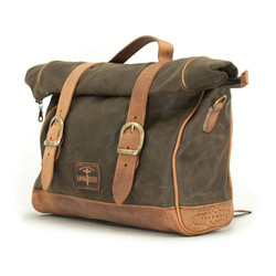 Single Side Saddlebag Waxed Cotton Khaki