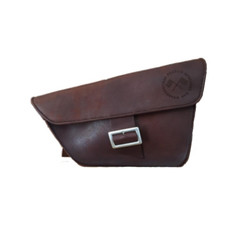 Saddle Bag / Scrambler Bag - Chocolate Brown