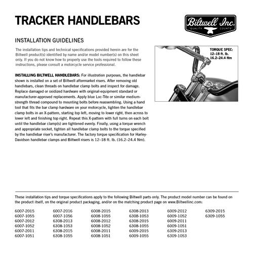 "Biltwell 1 ""Tracker-Lenker ""HOCH"""