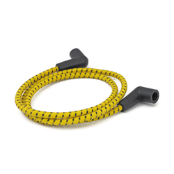 Braided Spark Plug Cable 7MM YELLOW