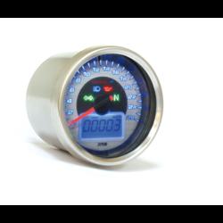 Snelheidsmeter D64 Chrome Style + Telltales (max. 260 km / u)