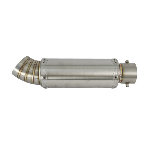 190MM Universal stainless steel exhaust silencer with 51MM Inlet, Type 1