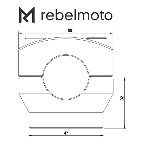 Rebelmoto Riser 22mm Höhe 32mm