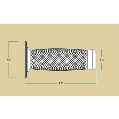 Biltwell 22mm Renegade Handvatten grijs TPV