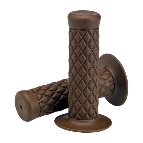 "Biltwell 1"" Poignees Thruster brun chocolat TPV"