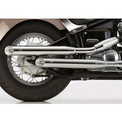 Slash Cut Système d'échappement chromé Yamaha XV XV - 1000 - 1100 V EG-BE