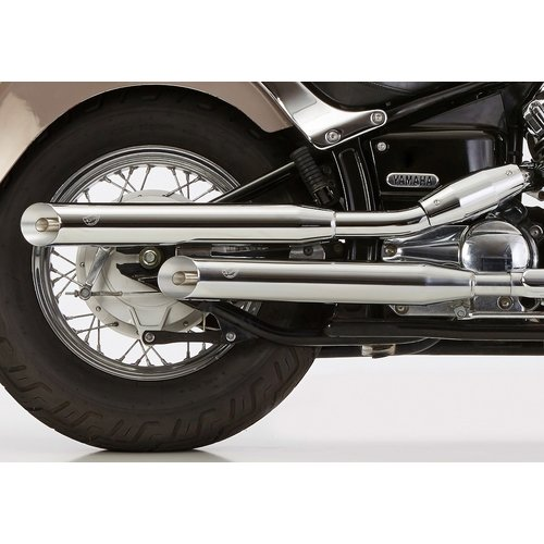 Falcon Slash Cut Uitlaatsysteem Chrome Yamaha XV 750 - 1000 - 1100 V EG-BE