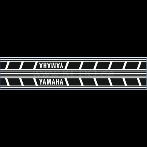 kedo Tank Stickers Yamaha Speedblock black/white italic