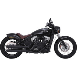 Black Twin Slash 3'' Slip-ons for Indian Scout 15-21
