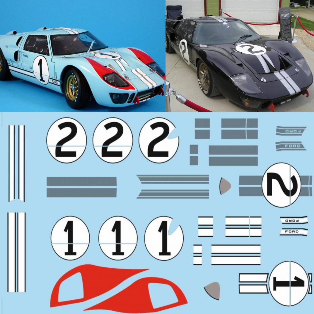 Ford Gt 40 Mk2 1 2 Lemans 1966 Tailormadedecals