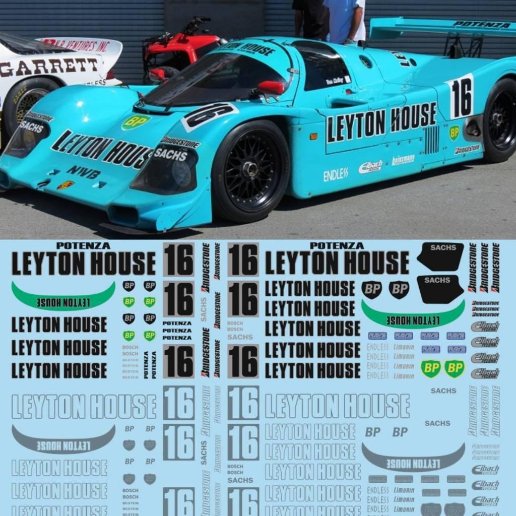 Porsche 962 Leyton House Tailormadedecals