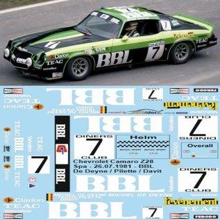 CAMARO Z28 / BBL SPA 1981